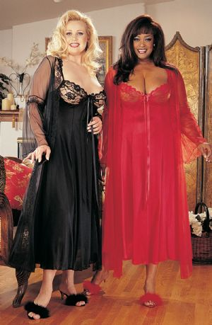 Shirley of Hollywood - Nightdress Gown Black